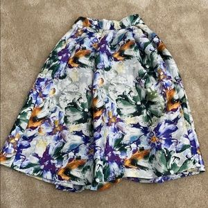Floral Midi Skirt from H&M